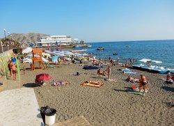 Центральный пляж Судака