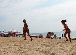 Отдых с детьми в Феодосии пляж Аква