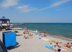 Пляж на набережной Десантников Феодосия