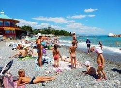 Алушта пляж Ласковый Берег