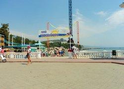 Набережная Алушты пляж Ласковый берег