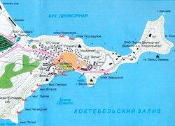 Карта Орджоникидзе с обозначениями