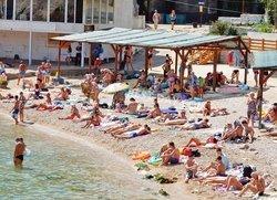 Отдых в Балаклаве пляж Мраморный