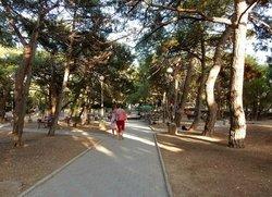 Парковая аллея на улице Космонавтов в Форосе