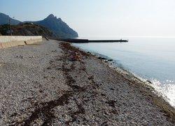 Пляж Курортное в конце набережной