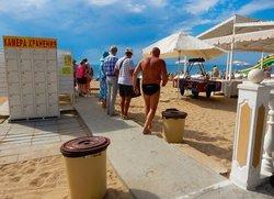Пляж в курортной зоне Евпатории Крым