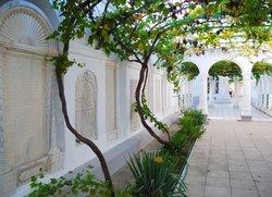 Виноградный двор в храмовом комплексе крымских караимов в Евпатории
