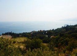 Вид на Отрадное с Южнобережного шоссе Ялта Крым
