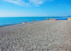 Пляж в Солнегорском