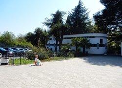 Парковка возле входа в Никитский ботанический сад