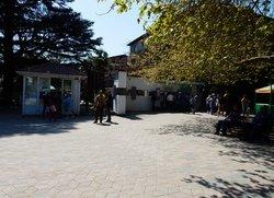 Касса возле входа в Арборетум Никитского ботанического сада