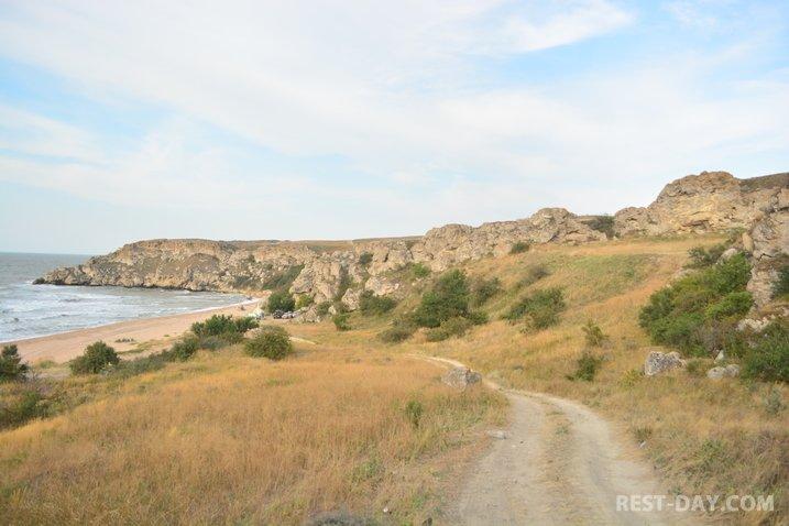 Генеральские пляжи, Керчь, заповедник, Курортное - Золотое
