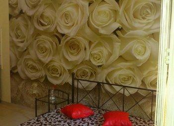 Однокомнатная студия для парочки в Береговом КастропольКухнябалконТерраса с мангалом